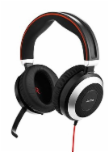 Jabra EVOLVE 80 MS Stereo USB Headband, Active Noise cancelling, USB connector, with mute-button and volume control on the cord, Busylight , Discret boomarm, active Noise Cancellation, Listen-In, Microsoft optimized