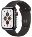 Apple APP MWWK2WB/A Watch Series 5 GPS + Cellular, 44mm Space Black Stainless Steel Case with